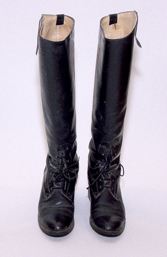 Reserved // Equestrian Black Knee High Riding Boots