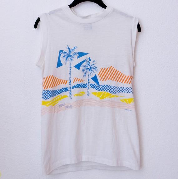 80's 1982 Ocean Pacific Surf Hawaiian Tank Top Tshirt
