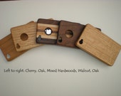Handcrafted, eco-friendly hardwood iPhone cases (4, 4s)  perfect fit, choose from 3 styles