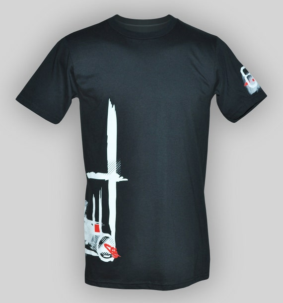 Ori - Men's black Tshirt. Free shipping. 100% cotton. Available in S, M, L, XL
