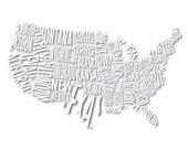 Typographical Map of the Continental United States
