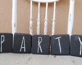 Five Chalkboard Blocks