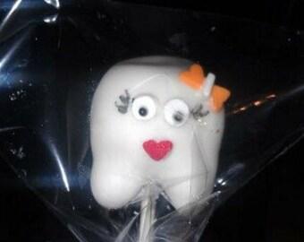 tooth cake pop