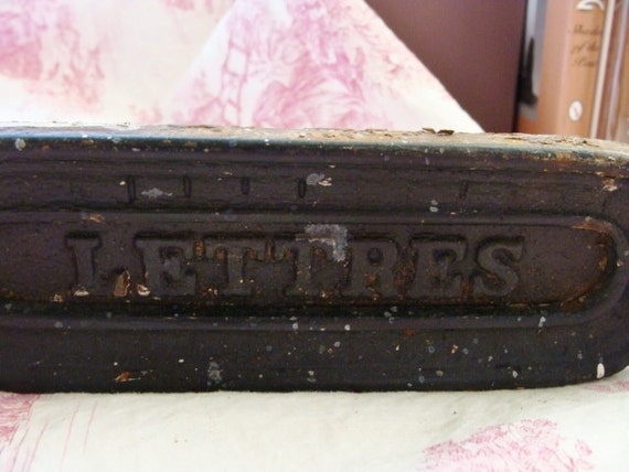 Victorian English Letter Box, Black, Cast Iron