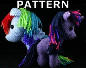 Plush pony (unicorn-pegasus) knitting pattern - PDF