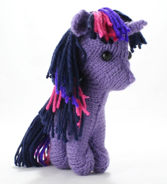 Twilight Sparkle (simplified) - My Little Pony FIM Knitted Plush