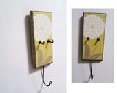 key holder - wall mounted yellow mustard