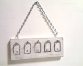 Wall Mounted - key, jewelry, kitchen utensil holder - Hotel style, wall mounted, White
