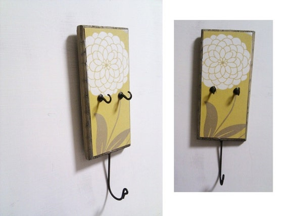 key holder - wall mounted yellow mustard