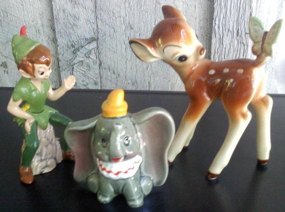 Vintage Disney Figurines / Made in Japan / Lot of 3 (RESERVED FOR MEENA)