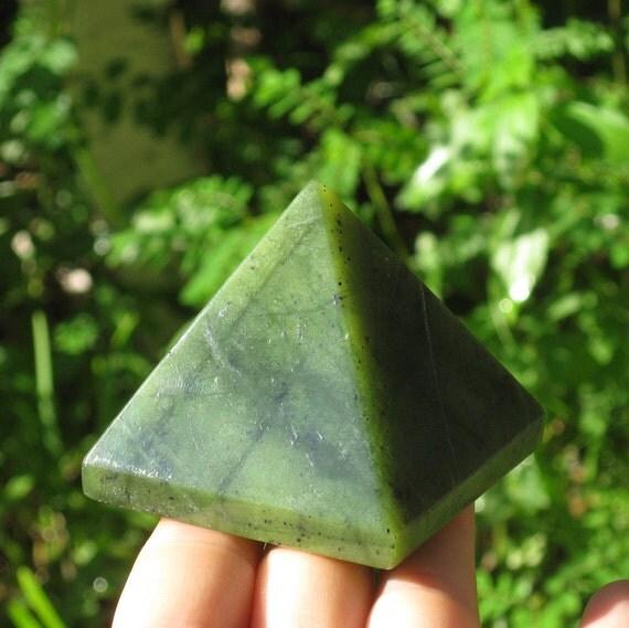 Green Jade Pyramid - Health, Abundance, Healing