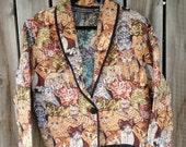 Kitty Cat Tapestry Jacket: XL