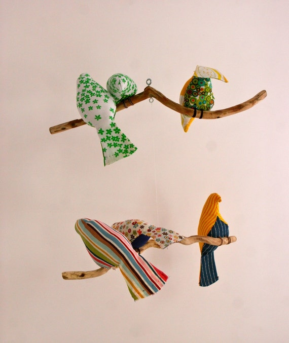 SALE Hand sewn Bird & Birdies Mobile 2