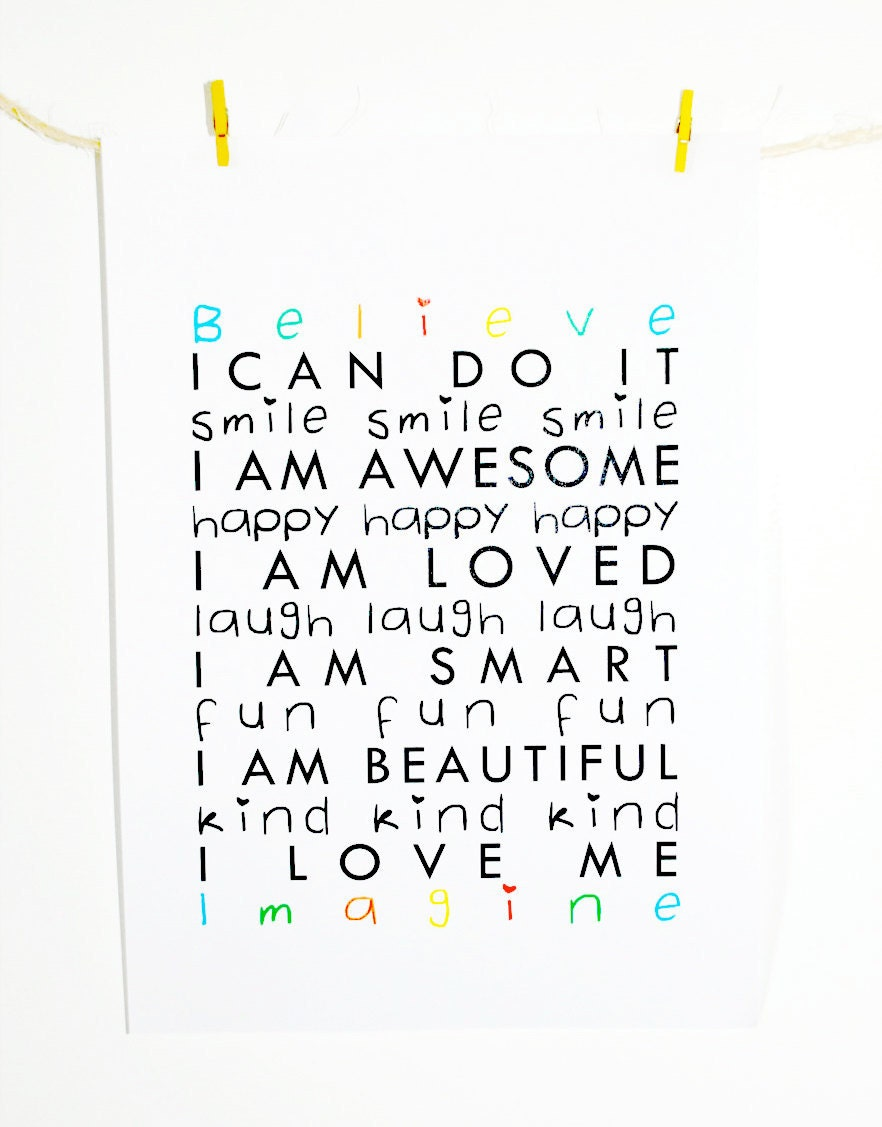 Vibrant image pertaining to printable affirmations