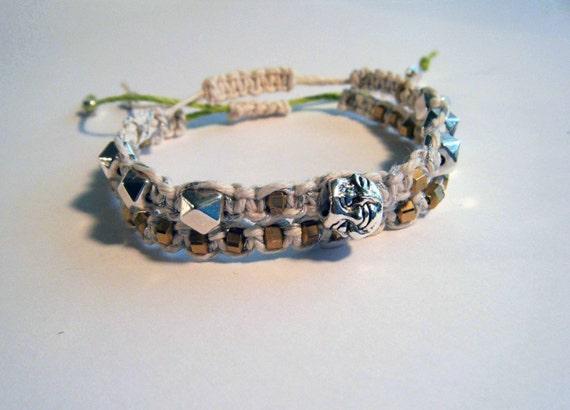 SALE, Buddha Bracelet set, Macrame bracelets, Zen Jewelry, Yoga Jewelry, Summer bracelet, Layering bracelets, Hippie bracelets, Hemp
