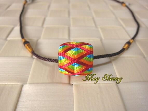 Mini yubinuki necklace rainbow