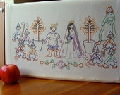 Little Snow White - 7 Dwarves - Embroidery Pattern PDF - Fairy Tale - Brothers Grimm