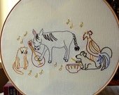 Musicians of Bremen - Embroidery Pattern PDF - Fairy Tale - Brothers Grimm - Cute Animal Band