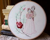 Romeo & Juliet - Embroidery Pattern PDF -  Includes Stitch Guide - Shakespeare