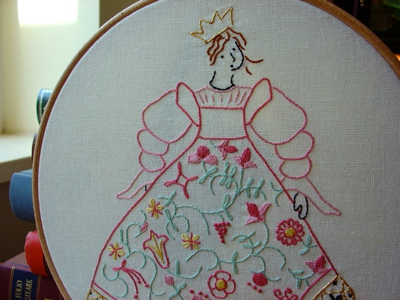 Cinderella - Princess - Embroidery Pattern PDF - Includes Stitch Guide - Fairy Tale - Brothers Grimm
