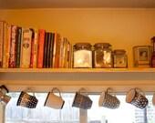 Handmade Solid Pine Shelf with Brass Hooks