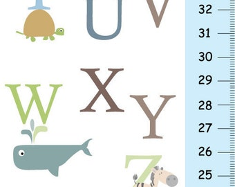 Personalized Children ABC Alphabet Children Growth Chart