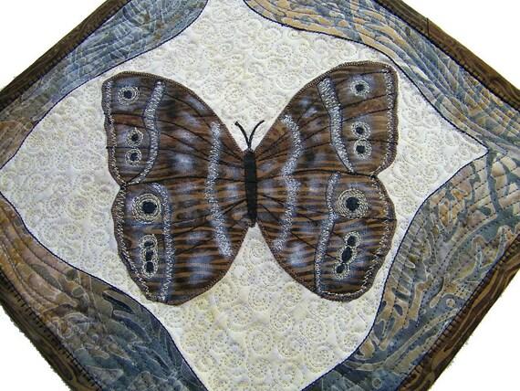 Butterfly, Art Quilt, Miniature Quilt Hanging