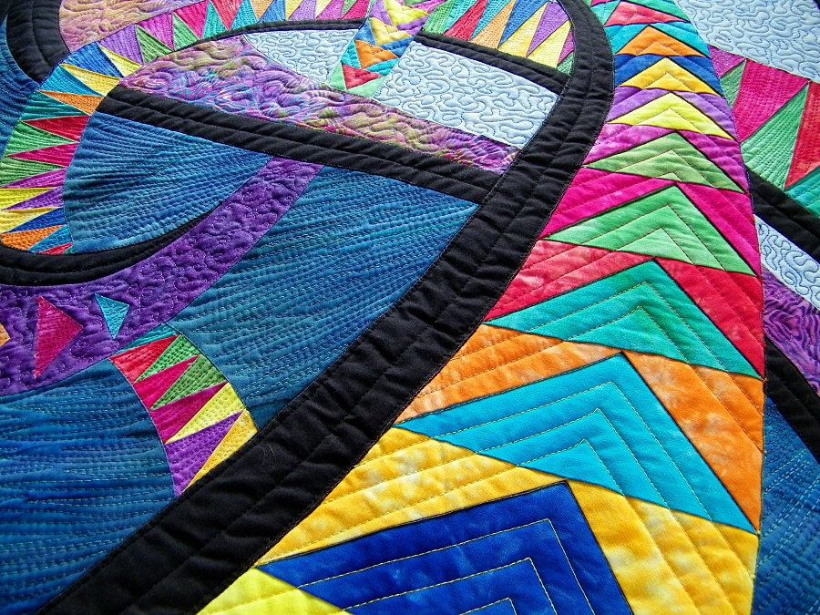 Quilted Wall Hanging Art Wall Quilt Colorful Quilt