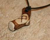 Wooden Rune Necklace: Odin