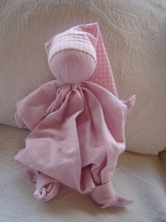 Flanel pink cuddling doll