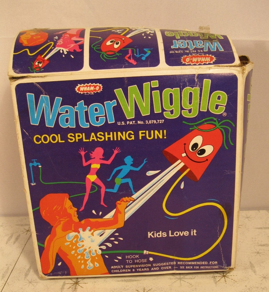 Vintage Wham O Water Wiggle W Original Box Sprinkler By