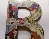 COMIC BOOK covered letters. Almost ANY character you can imagine.