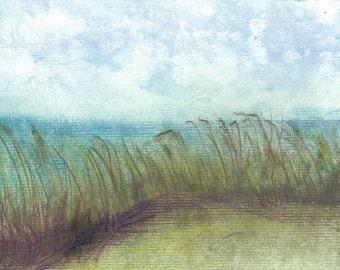 Beach with Grass