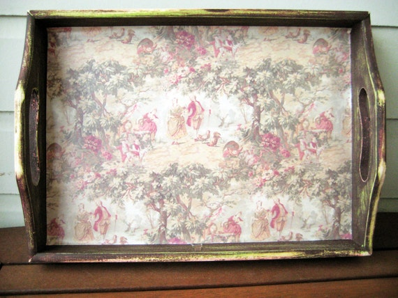 Rustic Victorian Print Serving Tray