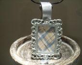 Silver Ornate Rectangle Framed Ornament