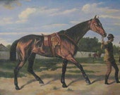 Original Oil Painting Horse and Groom