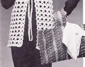 Vintage Crochet Hippie Vest PDF Pattern Sz S,M,L