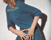 1960'S Vintage Knitting Pattern Laced Sweater Dress PDF