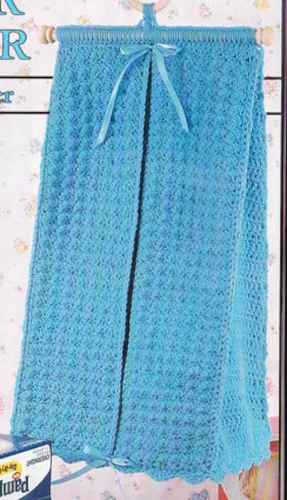 Vintage Crochet Pattern Baby Diaper Stacker By
