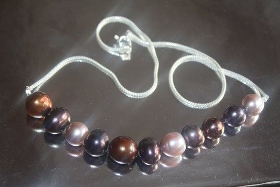 NECKLACE Sterling 925 and real pearls necklace, handmade, one of a kind, choker.