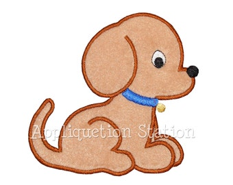 Puppy Dog Baby Applique Machine Embroidery Design Boy Pet Animal INSTANT DOWNLOAD