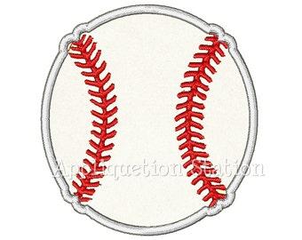 Baseball Applique Machine Embroidery Design Boy Sports INSTANT DOWNLOAD