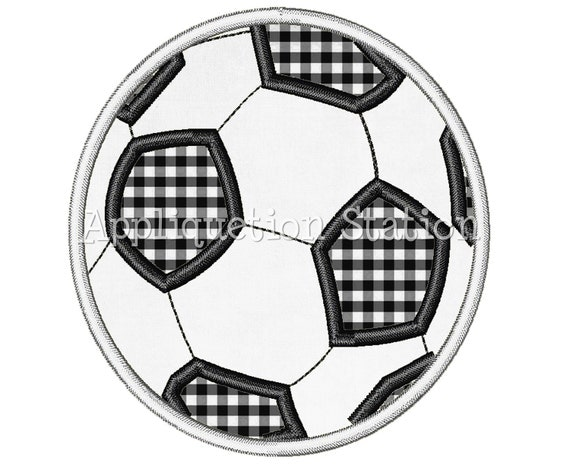 Soccer Ball Applique Machine Embroidery Design Boy Sports INSTANT DOWNLOAD