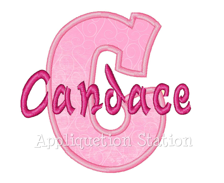 Full bubble alphabet set applique machine embroidery