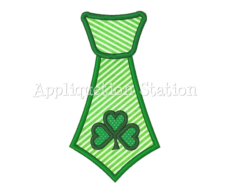 Necktie tie irish shamrock st patrick s patty day