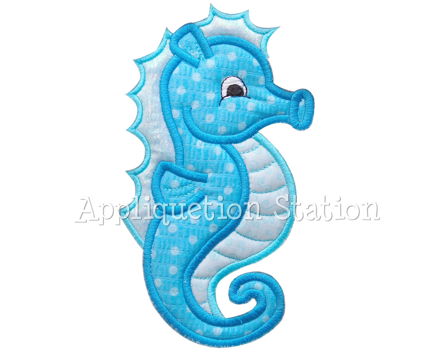 seahorse applique machine embroidery design by appliquetionstation. Black Bedroom Furniture Sets. Home Design Ideas