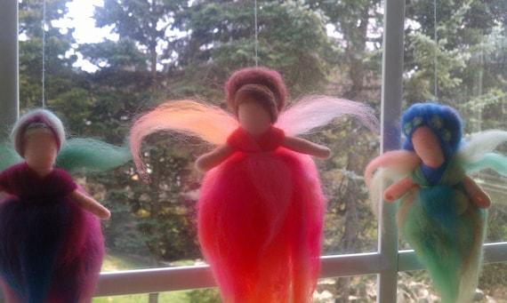 fairy window hanging, waldorf style