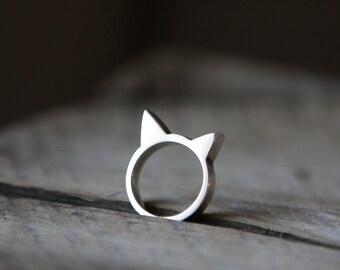 Tête de Chat 925- Cat ring 925