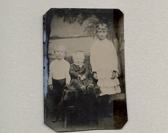 Tintype of 3 Siblings