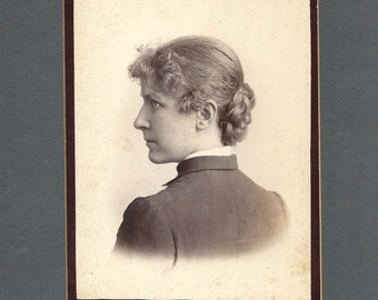 Back-View Cabinet Card of a Young Woman